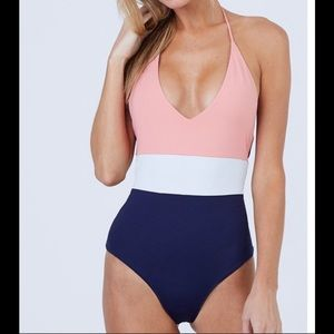 New Tavik Chase One Piece Coral Swimsuit Sz XS